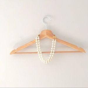 J. Crew Jewelry - Vintage Faux pearl double strand necklace/bracelet